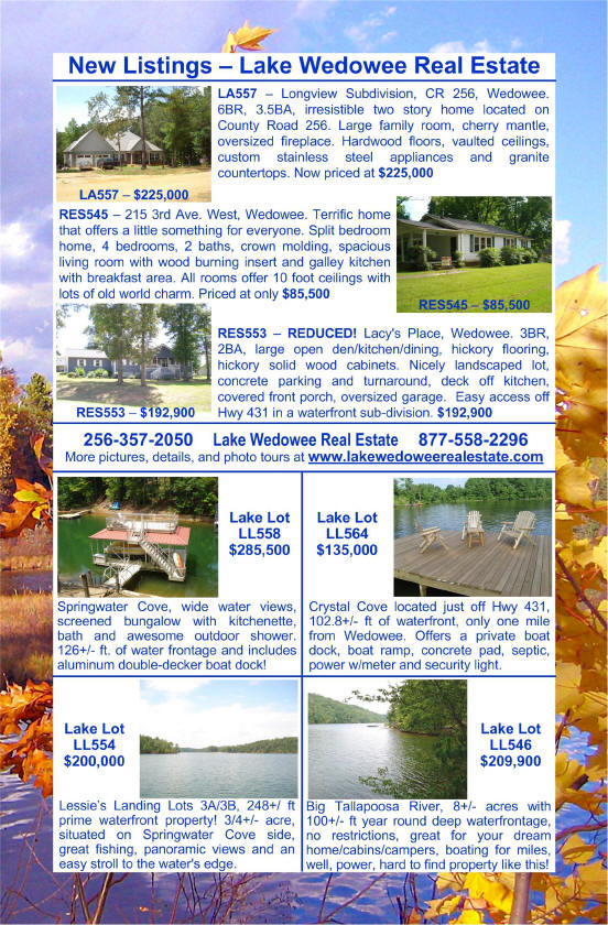Lake Wedowee Real Estate - Your Lake Wedowee Gateway and Lake Wedowee Connection